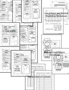 Weather Lab sheets and activities