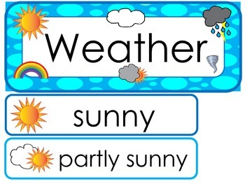 Weather  Word Wall Weekly Theme Posters.