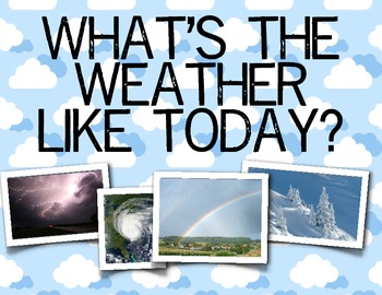 Weather Language Arts and Science Unit, Kindergarten & First Grade, Real Photos