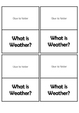 Weather Lap Book/Interactive Notebook