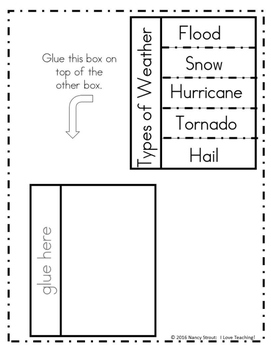 Weather Activity ~ Weather Lapbook For Grades 1-3