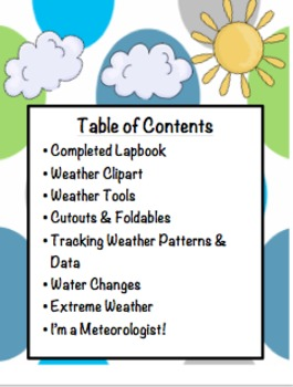 Weather Lapbook by Creatively Crazy With Learning