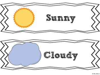 Weather Learning Pack (Minimal Prep, Lots of Activities!)