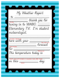 Weather Lessons - culminating with Student Weather Reporters