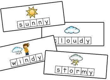 Weather Letter Tile Cards