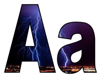 Weather Lightning Bulletin Board Letters