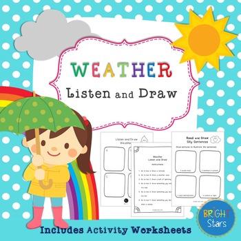 Weather and Seasons Listen & Draw Activities