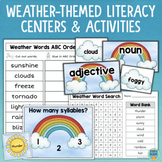 Weather Themed Reading Centers Activities Compound Words Syllables Nouns Verbs