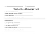Weather Map Scavenger Hunt