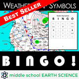 Weather Map Symbols BINGO Game