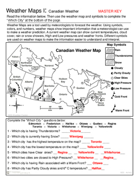 Canadian Weather Map on