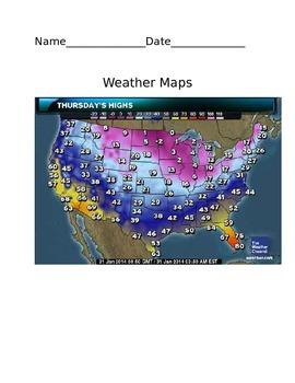 Weather Maps -BUNDLE  4th Grade Science