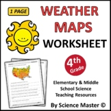Weather Maps Worksheet