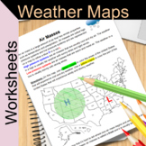 Weather Maps - Worksheets