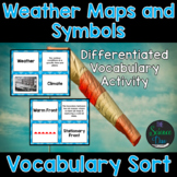 Weather Maps and Symbols Vocabulary Sort