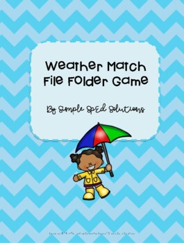 Weather Match File Folder Game