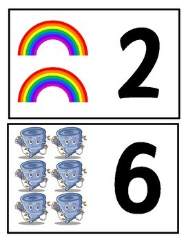 Weather Matching Number Game