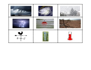 Weather Matching- Pictures with Weather Words andTerms with Definitions