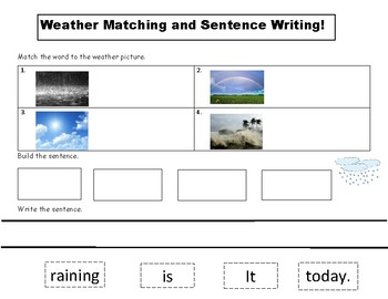 Weather Matching and Sentence Writing