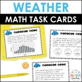 Weather Math Task Cards *Cross-Curricular*