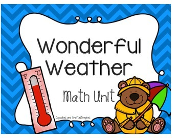 Weather Math Unit {{Centers && Fun Worksheets}}