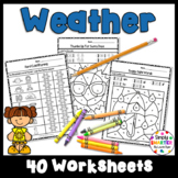 Weather Themed Kindergarten Math and Literacy Worksheets And Activities