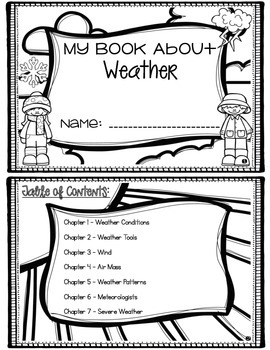 Weather Mini Book