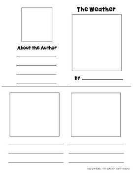 Weather Mini Books Template - with Vocabulary Cards