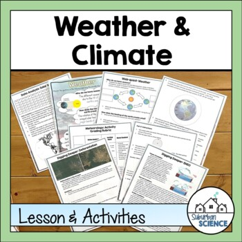 Weather Unit for High School: Temperature, Humidity, Air Pressure & Mapping