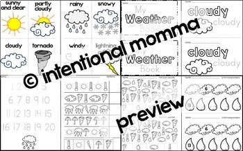 Weather Mini-Unit for Pre-K and Kindergarten