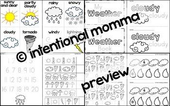 Weather Mini-Unit for Pre-K and Kindergarten