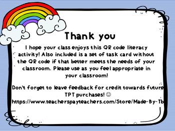 Weather Missing Letter QR Code Task  Cards