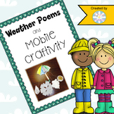 Weather Poems and Mobile Craftivity - Weather and Poetry