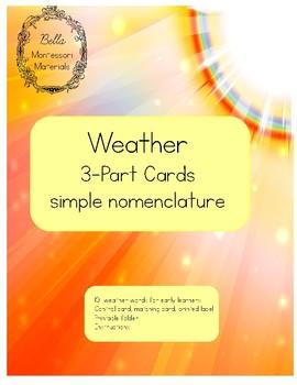 Montessori Weather 3 - Part Cards