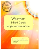 Weather - Montessori 3-Part Cards