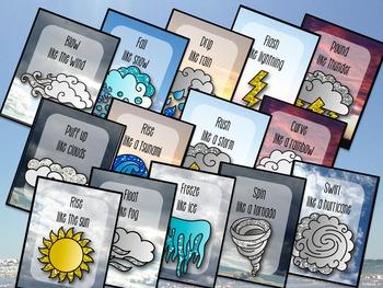 Weather Movement Cards for Preschool and Brain Break