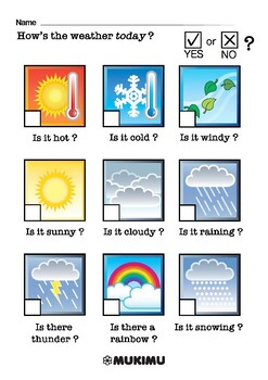 Weather | Multiple Choice Worksheet