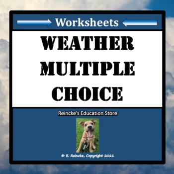 Weather Multiple Choice Worksheets (Test Prep)