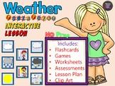 Weather NO PREP ESL Interactive Power Point Lesson + Printables
