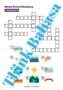 Weather & Nature Indonesian Class (Worksheets & Answer Keys)