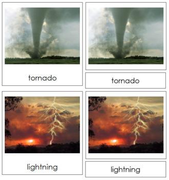 Weather Nomenclature: 3-Part Cards