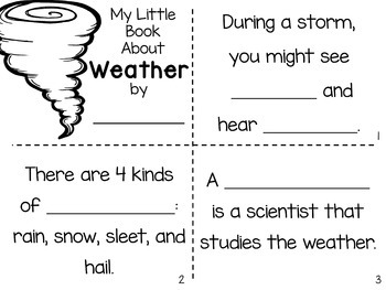 Weather Nonfiction Close Reading & Visual Vocabulary Unit