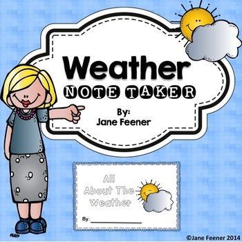 Weather Note Taker/Booklet