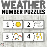 Weather Number Cards for Math Centers or Weather Theme