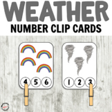 Weather Number Clip Cards for Math Centers