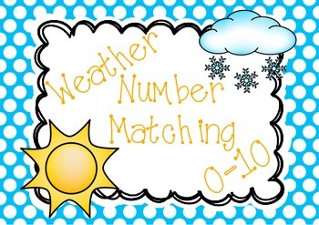 Weather Number Matching Cards