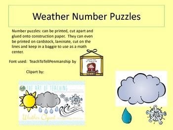 Weather Number Puzzles
