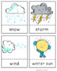 Weather Number and Vocabulary Cards