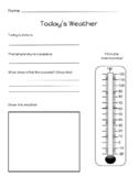 Weather Observation Sheet