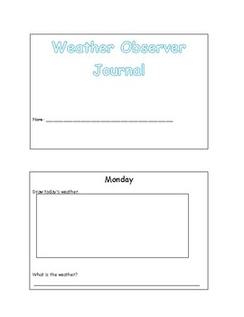 Weather Observer Journal